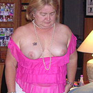 mature wife flashing tits