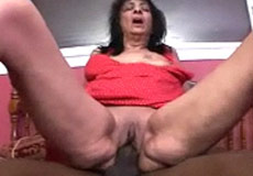 mom riding black cock