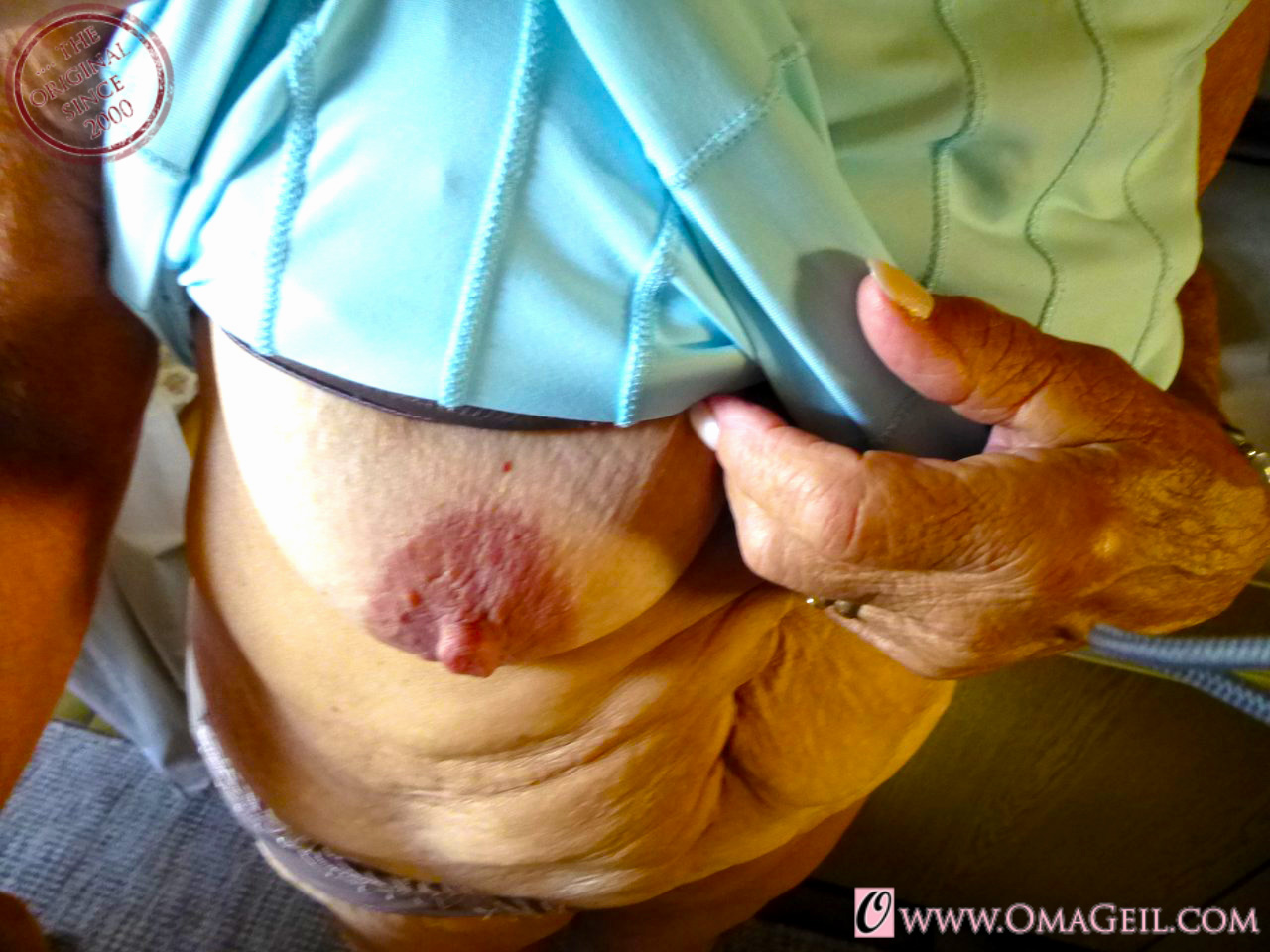 Sweet tight oma big tits the